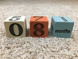 **Baby Age Blocks (solid wood) FOR SALE**