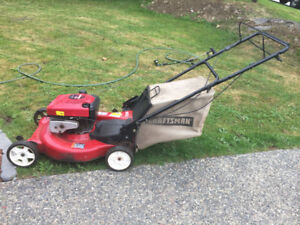 "Self propelled 21"" craftsman lawn mower"