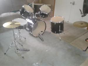 Acoustic drums.