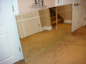 Bevelled Glass Mirrors (two)