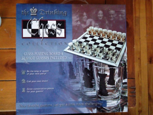 32 piece shot glass chess brand new