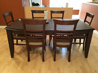 Dining Set in Great Shape!! Table + 6 Chairs