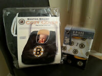 Official NHL 3 Piece set and Car seat cover.