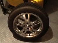 Set of Michelin winter tires and rims
