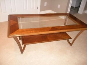 Solid Wood Coffee Table and Matching  end table