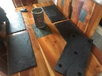 Large slate place mats