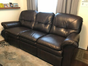 Leather La-Z-Boy Reclining Sofa & Loveseat