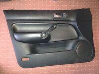 VW Bora Highline Recaro black leather door cards x4 front rear drivers passenger side