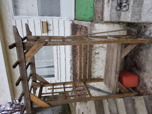 Wood arbour for sale.