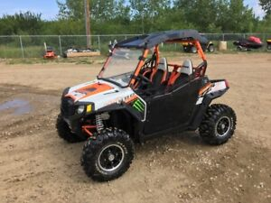 2013 Polaris RZR S 800 Orange and White LE