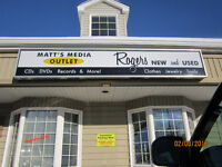 Rogers New & Used / Matt's Media Outlet Opening Soon!!