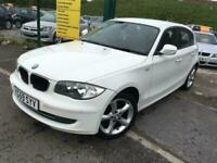BMW 118D SPORT 5DR DIESEL-EXCELL COND-MOT OCT 21-*£30 TAX*-RARE WHITE COLOUR!