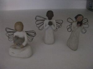 HALLMARK WILLOW TREE FIGURES  $5.00 EACH  OR THREE FOR $10.00