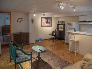 Beautiful 1 Bedroom Basement Apartment for Rent -Fully Furnished