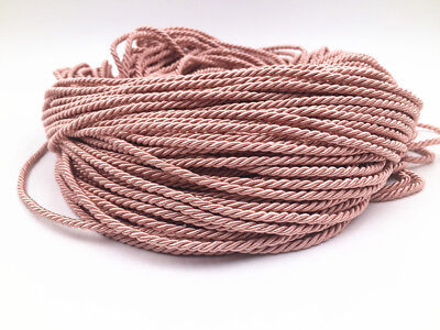 5-10M pink Colors Three Strands of Cord Twisted Cord Trim Rope Thread 3mm  Cord Of 3 Strands