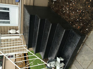 Free// must pick up. Concrete stairs