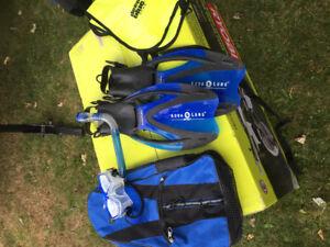(2)AQUA LUNG -Snorkeling Sets