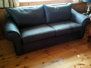 Leather couch barely used