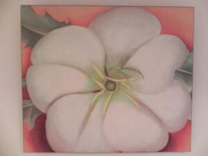 "Georgia O'Keefe ""Big Flower"" 1946, print on masonite panel"