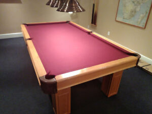 8' slate Pool Table with Accessories