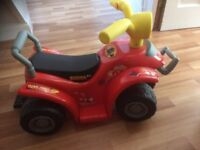 Toddler electric ride on