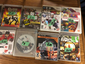 PS3, Nintendo DS and Nintendo Wii Games For Sale