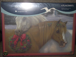 Horse Christmas Placemats-Set of 4