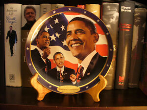 "Barack Obama ""Yes We Can"" Collectors Plate"