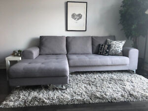 Grey Shag Rug - Very Clean!