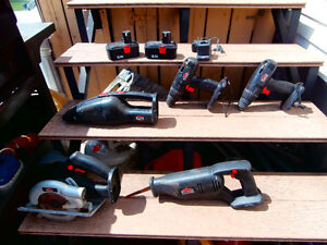 one lot of power tools with battery and charger look at photo