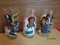 Set Of 3 STAR WARS Collectible COKE Glasses From 1980