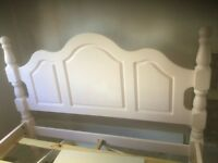 Solid Pine Pale Pink Double Bed