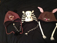 DELUX WINTER ANIMAL HATS FOR KIDS/YOUTHS