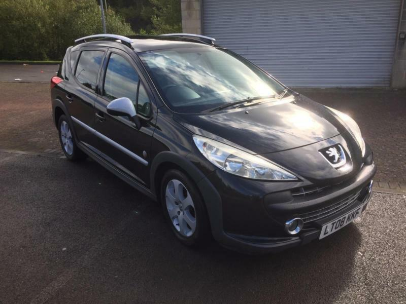 2008 peugeot 207 sw 1 6hdi 90 outdoor estate onyx black metallic in blackwood caerphilly. Black Bedroom Furniture Sets. Home Design Ideas