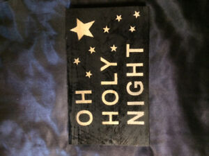 """Oh Holy Night"" Homemade Sign"