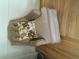 Beige rocker, very comfortable!