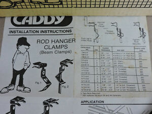 Attache pour tige portante (Rod hanger clamps)
