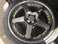 18 inch Lesno skr alloys with tyres
