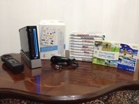 Nintendo Wii Console (Black) with 12 Games