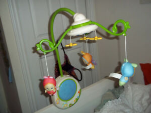 2 Crib mobile (1 is electronic and sings and spins)