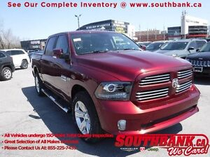 2017 Ram 1500 SportCREW CAB, HEATED SEATS, NAVIGATION, R.CAMERA,