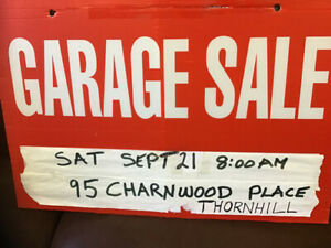 MASSIVE Garage Sale-Sat. Sept. 21. 8 a.m.THORNHILL-MULTI FAMILY
