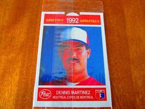CARTE SCELLEE DE BASEBALL MLB . DENNIS MARTINEZ, EXPOS MTL 1992