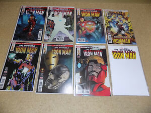 THE INVINCIBLE IRON MAN #593 - 600, MARVEL COMICS, FIRST PRINT