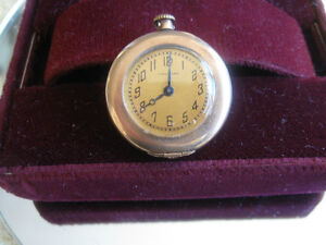 SMALL OLD OPEN-FACED STEM-WIND WALTHAM POCKET WATCH [WORKS]