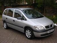 EXCELLENT VALUE! 2005 VAUXHALL ZAFIRA 1.6 i 16v Life 5dr, LONG MOT, WARRANTY