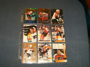 1 SHEET OF 9 CARDS-ERIC LINDROS-1993/1998-DONROSS-LEAF-FLEER