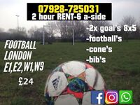 Rent Book Football pitch 2x goals session