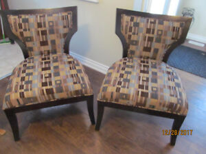 2 NEW ACCENT CHAIRS   2 FOR $275
