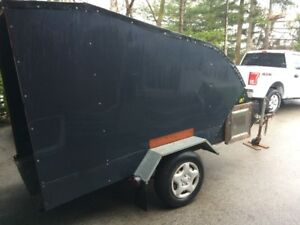 Single Tilt Semi/Enclosed  Snowmobile trailer